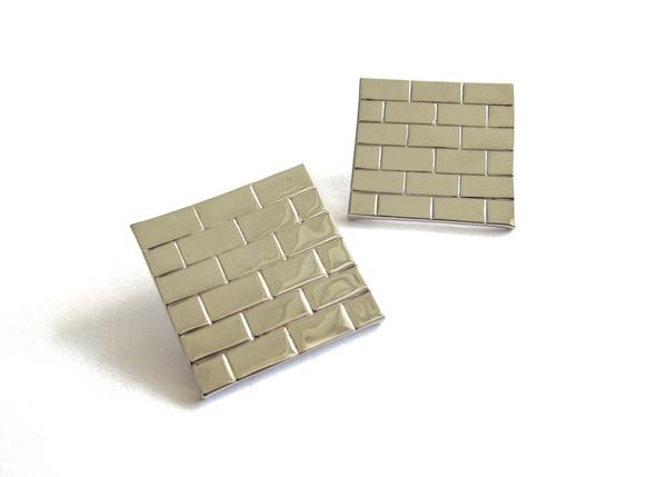 brick wall earrings
