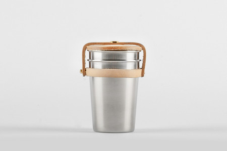 Yield Cup Set - Leather & Steel