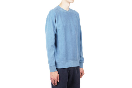 Norse Projects KETEL SOLID BRUSHED CREWNECK - MARGINAL BLUE