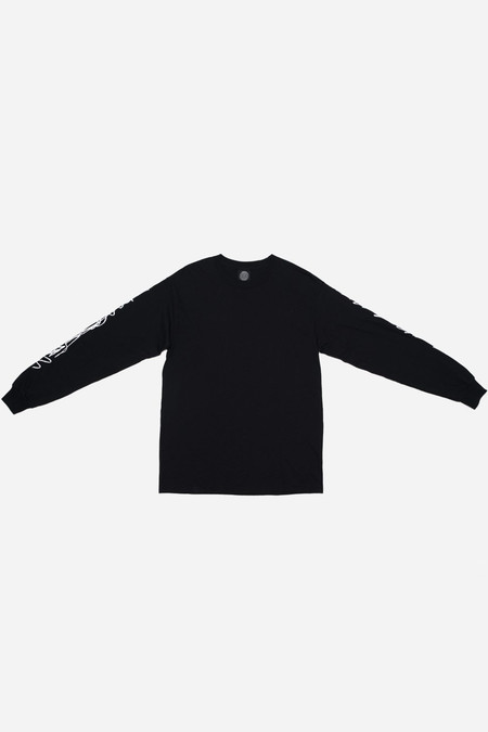 Silent Sound Long Sleeve Scribble Tee - Black