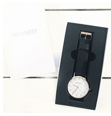 Piperwest Classic Minimalist in Rose Gold + White/Black