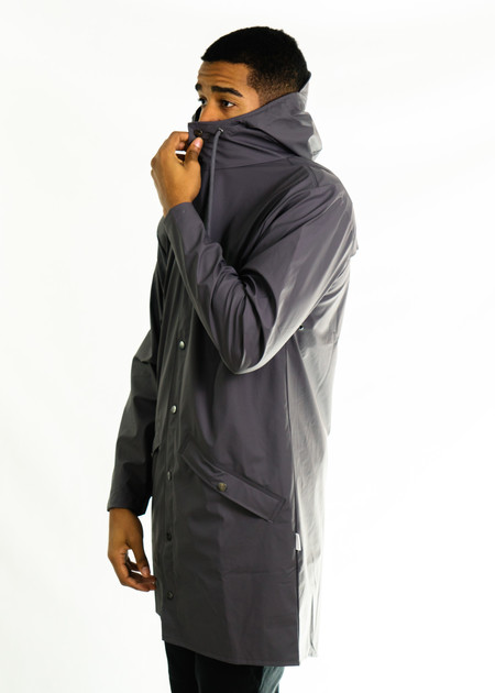 Rains Long Jacket (Smoke)