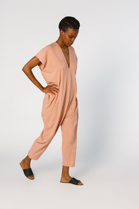 Miranda Bennett Everyday Jumpsuit, Silk Noil in Nico