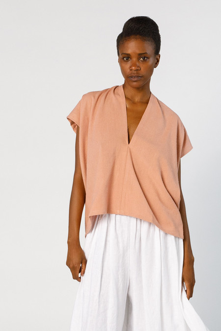 Miranda Bennett Ed. VIII Everyday Top, Silk Noil in Nico