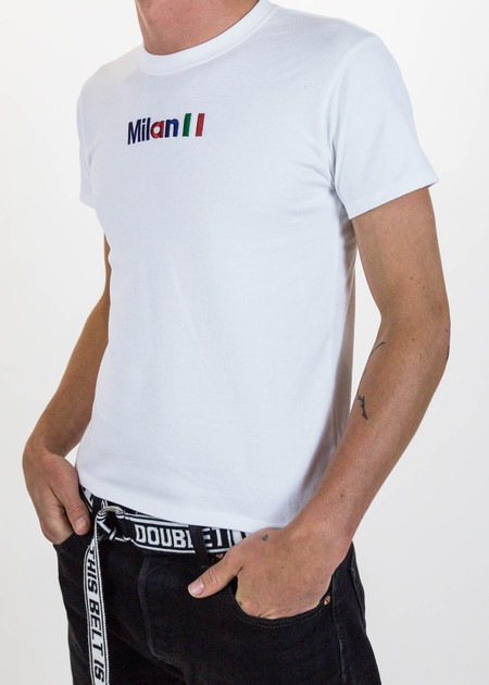 "Doublet White ""Milan"" Embroidery T-Shirt"