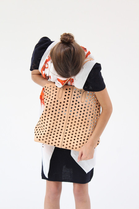 Rachel Comey Punched Tote Natural Leather
