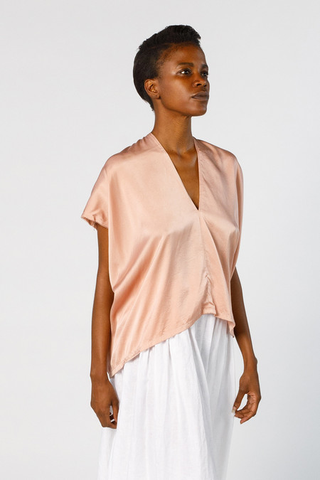 Miranda Bennett Ed. VIII Everyday Top, Silk Charmeuse in Bardot
