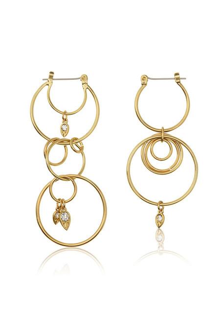 LUV AJ Gold Eclipse Hoop Earrings