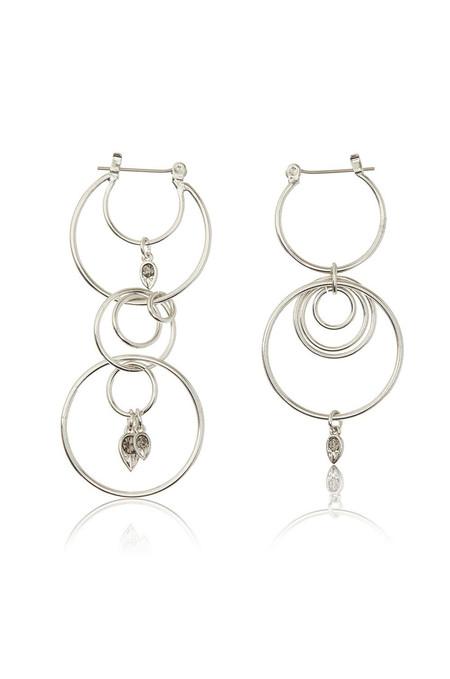 LUV AJ Silver Eclipse Hoop Earrings