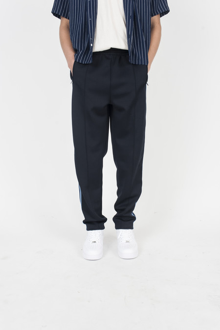 Four Horsemen Pintuck Track Pant Navy Straight