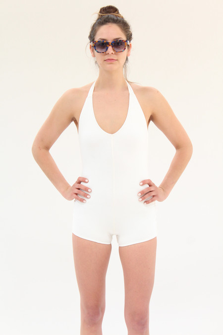 Lina Rennell Tie Swimsuit White