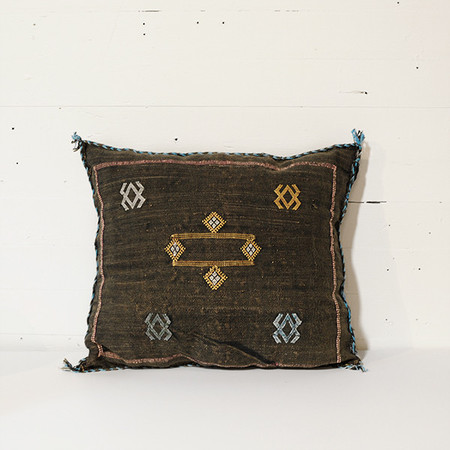 Meus CACTUS KILIM CUSHION COVERS - BLACK