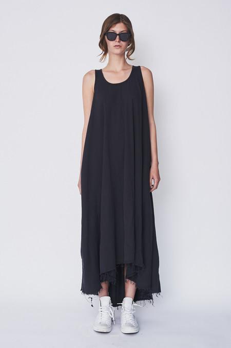 Black Crane Cotton Floral Dress