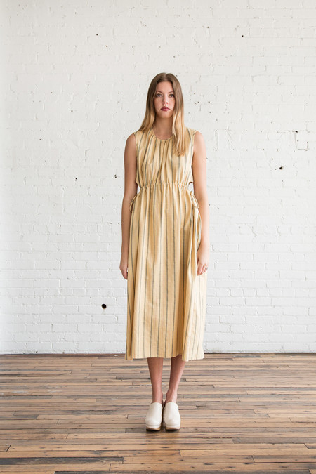 Caron Callahan Goa Dress Cotton Pinstripe