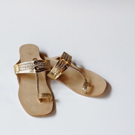 MATTA KOLI FLAT SANDALS - GOLD