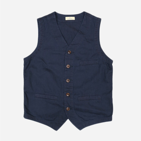 Japan Blue JBVB02 Vest - 6.5oz Deep Blue