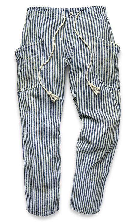FORTUNE GOODS INDIGO STRIPE SURF PANT