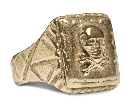 FORTUNE GOODS SKULL RING IN BRASS