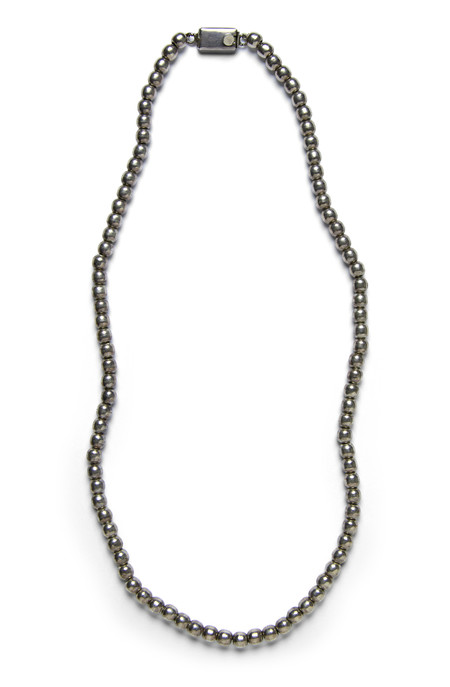 FORTUNE GOODS VINTAGE 1940's STERLING SILVER BEAD NECKLACE