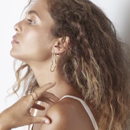Odette New York Miro Earrings in Brass