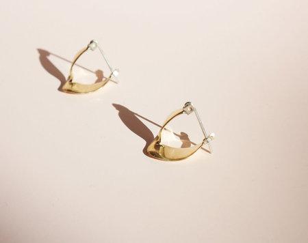 Odette New York Wishbone Earrings in Brass