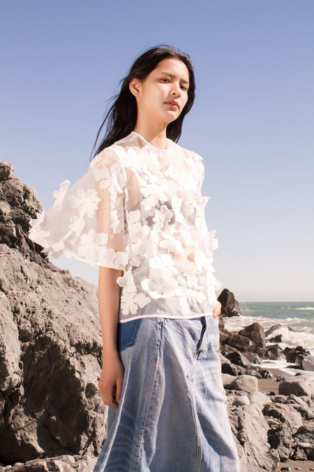 Nika Tang Camera Embroidery Top