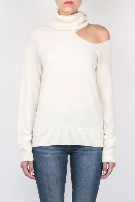 Skin Split Turtleneck Sweater
