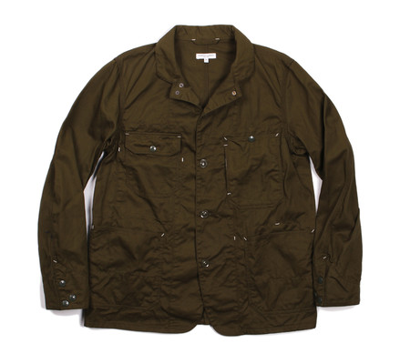 Engineered Garments Coverall Jacket | Olive Cotton Twill