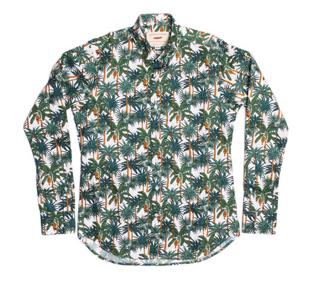 18 Waits Dylan Shirt Long-Sleeve   White Palms