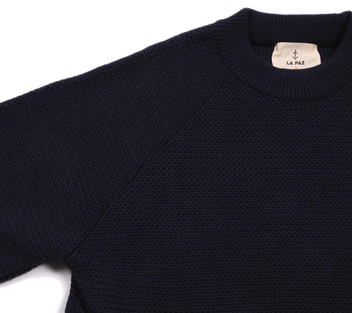 La Paz Rato Cotton Summer Sweater | Navy | Garmentory