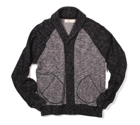 Creep Shawl Collar Cardigan | Black Fleece