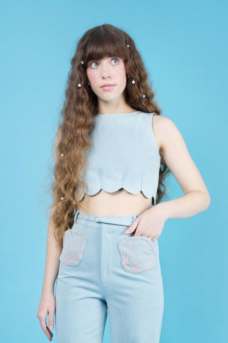 Samantha Pleet Shell Tank - Aquamarine