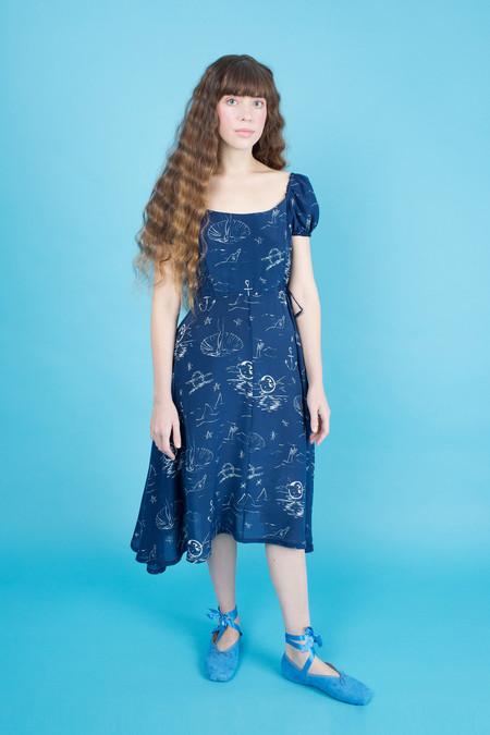 Samantha Pleet Siren Dress - Night Sea