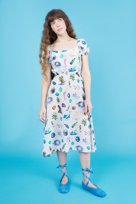 Samantha Pleet Siren Dress - Sea Token