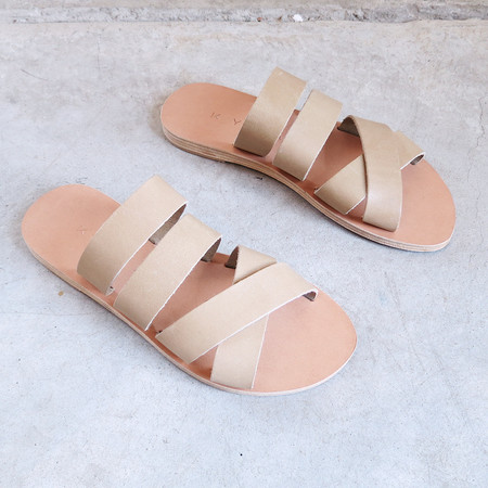 Kyma Naxos Sandals in Natural & Olive
