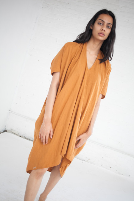 Visvim Ruana Dress in Orange