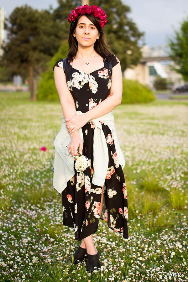 Mink Pink Moon Flower Midi Dress