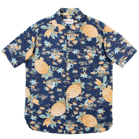 Freenote Cloth Freenote Hawaiian Shirt—Blue Pineapple