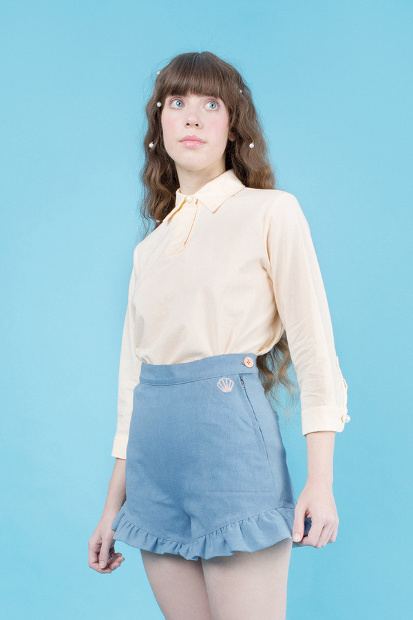 Samantha Pleet Fin Shorts - Aquamarine