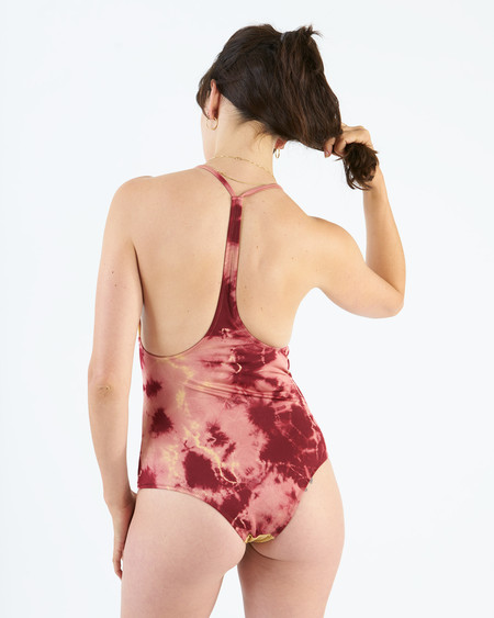 made by dawn traveler tie dye one piece - turning rose