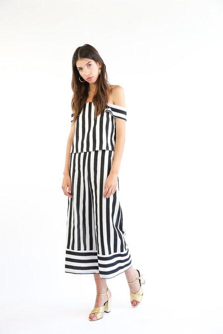 Collection Devon Top - Black/White Stripe