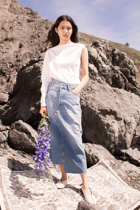 Nika Tang Clara Slant Blouse - White
