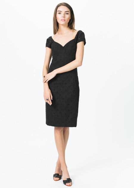 Ticci Tonetto Fitted Cap Sleeve Dress