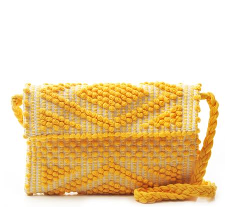 Antonello Yellow Suni Rombi Clutch