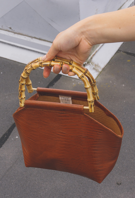 GARMENTORY EXCLUSIVE | Lykke Wullf Recycled Leather Bamboo Bag