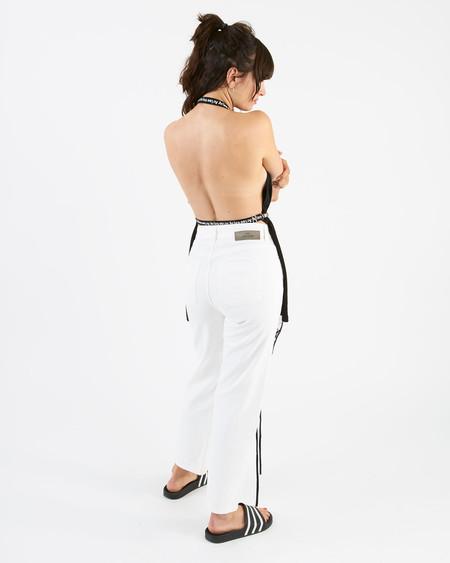 Aries tee suspenders - black/white