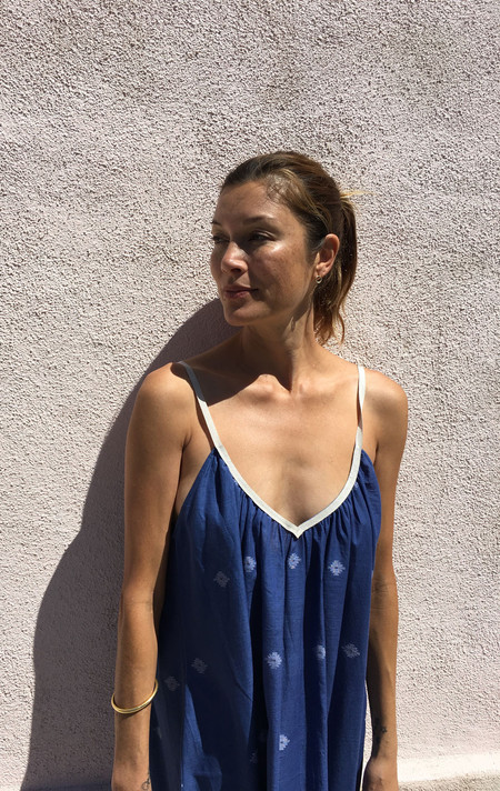 Two New York Khadi Dress - Mediterranean Blue