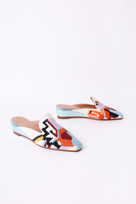 Rachel Comey Wald slides in eyes needlepoint