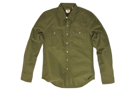 Levis Red Tab Levi's Barstow Olive Shirt