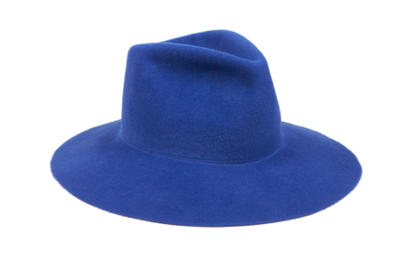 Clyde Wide Brim Pinch Hat in True Blue